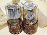 Brand New, Matched Pair RARE MINT NOS NIB 1955 Brimar CV1985 6SL7GTY Tubes. Square Getter and Brown Micanol Base. STC Footscray production. REME (Royal  Electrical and Mechanical Engineers) inspected and packed from British Military Stock.