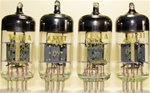 Brand New, MINT NOS Early 1960s Production Funkwerk RFT ECC82 12AU7 Tubes with Thin Dual Getter Support. Tesla stock with Tesla Label. Made in E. Germany.