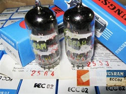 Brand New, MINT NOS NIB Rare MAY 1977 production Tungsram Industrial Grade ECC82 12AU7 Tubes. Each tube has individual RED Serial Number and Serialized Certificate. Made in Hungary.