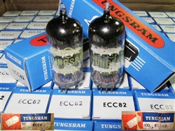Single Tubes, Brand New, MINT NOS NIB FEB-1980 Tungsram ECC82 12AU7 Tubes with same batch code. Made in Hungary. Tungsram ECC82 tubes are well liked by many Audiophiles.