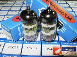 Matched Pairs, Brand New, MINT NOS NIB MAY-1978 Tungsram ECC82 12AU7 Tubes with same batch code. Made in Hungary. Tungsram ECC82 tubes are well liked by many Audiophiles.