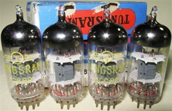 Brand New, MINT NOS NIB NOV-1979 Tungsram ECC82 12AU7 Tubes with same batch code. Made in Hungary. Tungsram ECC82 tubes are well liked by many Audiophiles. Tube boxes are battered as shown in the picture. Tubes are in pristine condition.