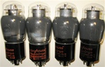 Brand Spanking NEW, 1950s WESTINGHOUSE RADIOTRON CANADA 6V6G ST Coke Bottle smoke glass tubes. From Italian Military Stock. Very desirable tube for both Guitar and Audio applications.