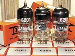 Brand New, MINT NOS NIB Mid 1960s Brimar Military Production CV4024 12AT7WA tubes with Black Plates and copper posts. STC Production, Made in England. Relabeled and boxed by Tronix as 6201. Very desirable 12AT7/ECC81 type tube for both Audio and Guitar ap