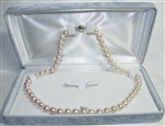 Freshwater Cultured Pearl Necklace Grade AAAA 7.5mm to 8.5mm White - 17.5 inch