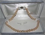 Freshwater Cultured Pearl Necklace Grade AAA 8.5mm to 9.5mm PINK - 17.5 inch