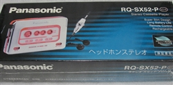 Brand NEW - SEALED - 1993 Model Panasonic Portable Cassette Player RQ-SX52 - PINK Color - Made in Taiwan.