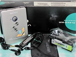 Like New 2000 Sony Walkman Cassette Player WM-EX610 with Original Box - Made in Malaysia - Reconditioned - DOLBY