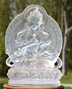 Statue Vajrasattva with back, 08 inch, Glass