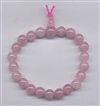 Wrist Mala Quartz Rose, 08 mm, 21 beads