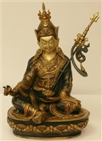 Statue Guru Rinpoche, 13 inch, Partially Gold Plated