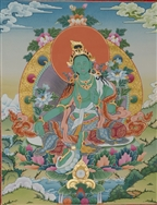 Thangka  Green Tara