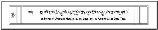 Guru Yoga of the 16th Karmapa: A Shower of Ambrosia Generating the Shoot of the Four Kayas