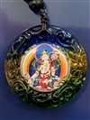 White Tara Pendant Glass round