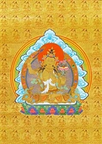 Golden Note Card Manjushri