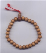 Wrist Mala Sandalwood, 09 mm, 21 beads