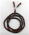 Mala Tiger Eye Red, 06 mm, 108 beads