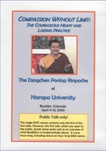 Compassion Without Limit, Public Talk, DVD
