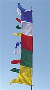 Prayer Flags, Vertical Five Color Flags
