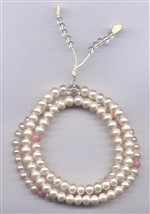Mala Pearl, 07 mm, 108 beads