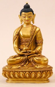 Statue Amitabha, 05.5 inch, Fully Gold Plated