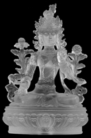 Statue White Tara, 09 inch, Glass