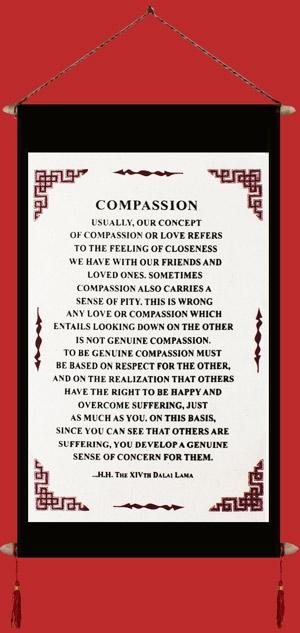 Banner: Dalai Lama's Quote on Compassion