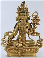 Statue Red Tara, 8'5 inch, Fully Gold Plated