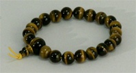 Wrist Mala Tiger Eye, 08mm, 21 beads