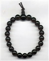 Wrist Mala Quartz Smoky, 08 mm, 21 beads