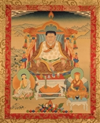 Thangka Marpa with Milarepa and Gampopa