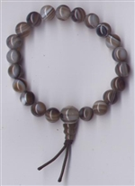 Wrist Mala Eye Agate, 08mm
