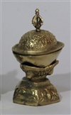 "Kapala, brass, large 5"" in height, diameter of cup: 3.25"""