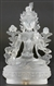 Statue White Tara, 04.5 inch, Glass