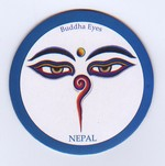 Buddha Eyes, Magnet,  White