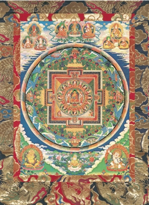 Mandala of the Sixteen Great Arhats<br>Laminated: 5x7 inch