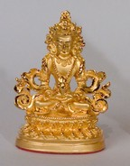 Statue Amitayus, 2.25 inch,  Gold Plated