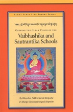 Opening the Clear Vision of the Vaibhashika and Sautrantika Schools <br> By: Khenchen Palden Sherab Rinpoche and  Khenpo Tsewang Dongyal Rinpoche