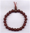 Wrist Mala Agate Red, 08 mm, 21 beads