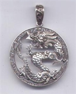 Pendant Dragon Silver 3.2 cm/1.25 inches