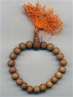 Wrist Mala Sandalwood, 10 mm, 21 beads