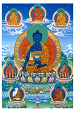 Eight Medicine Buddhas Postcard