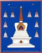 Stupa of Enlightenment   (Tib. Jangchub chorten)