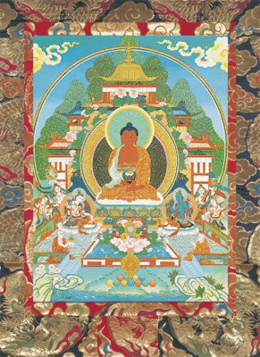 Amitabha: Buddha of Infinite Light<br>Laminated: 5x7 inch