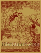 Nagarjuna Silk Screen Print 12.25 x 15.5 inch by Robert Beer