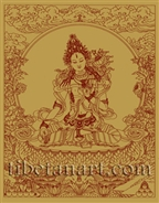 White Tara Silk Screen Print