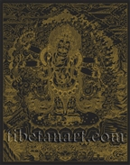 Six-Armed Mahakala Silk Screen Print