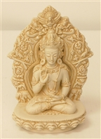Statue Buddha Fear Not, 4.5 inch, Resin