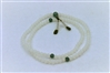 Mala, White Jade, 5 mm, elastic string