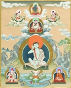 Milarepa and Kagyu teachers